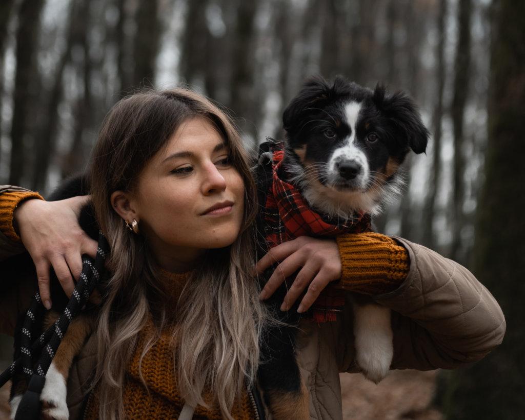 séance photo avec chien